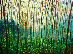 Oo-bos vroege herfst, olieverf op doek, 120 x 160 cm. Gertjan Scholte-Albers