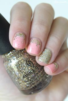 ▲▼▲ Coco's nails ▲▼▲: Gold & Peach