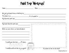 Enjoy this free activity from my Field Trip Resource Pack which you can find HERE...