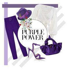 """Untitled #140"" by faizuradidja on Polyvore featuring Zimmermann, Gianvito Rossi, The Row, purplepower, internationalwomensday and pressforprogress"