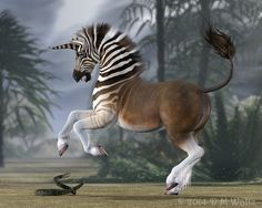 Quagga Unicorn by Daio on DeviantArt