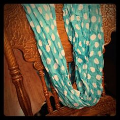 Blue Polka Dot Infinity Scarf Blue Polka Dot Infinity Scarf Accessories Scarves & Wraps