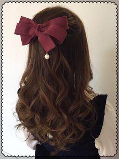 My Darling Rainbow Kawaii Hairstyles, Pretty Hairstyles, Braided Hairstyles, Ribbon Hairstyle, Lolita Hair, Hair Reference, Anime Hair, Girls Hair Accessories, Hair Looks