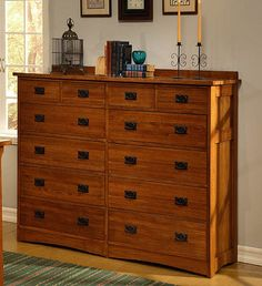 Maine Large White Chest of Drawers with Ash Top | Bedroom ...