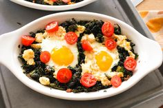 I took a week off for the holidays and to think about this blog. The only solid thing I came out of the week with was this recipe for Baked Eggs with Ricotta and Kale.