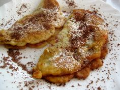 "Slovak Apple Pancake ""Jablkove Palacinky"" - I use gluten free flour instead for a gluten free version of this recipe"