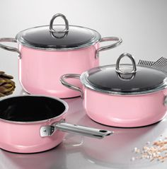 Silit pink cookware