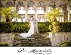 Beautiful background!  Paris Mountain Photography Destination Wedding Bahamas Beach Wedding bride and  Groom Cloisters