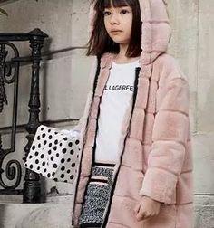 Karl Lagerfeld FW 19/20 Karl Lagerfeld Kids, Fur Coat, Jackets, Fashion, Down Jackets, Moda, Fashion Styles, Fashion Illustrations, Fur Coats