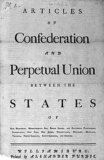 The articles of confederation were the first written constitution, in which the states stayed sovereign and independent. At the time the central government was unable to levy taxes and regulate commerce, which later led to the constitutional convention of Us History, British History, History Books, American History, Historical Fiction Authors, Declaration Of Independence, Founding Fathers, Library Of Congress, Historia