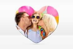 Foto-Magnet in Herzform Outdoor Decor, Valentines Day Photos, Decorating, Homes, Decorations