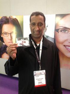 Man posing with Rock On Eyewear Charms.