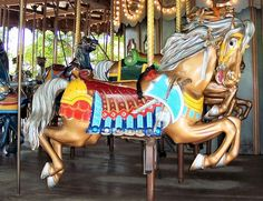 The Grand Ole Carousel Outside Row Jumper War Horse National Carousel Association Logo © Bette Sue Gray Date of picture: May 20, 2005