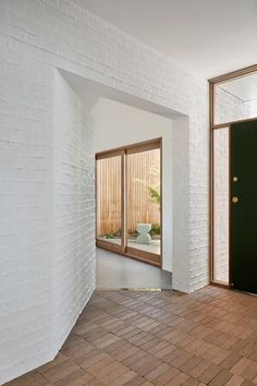 GalaHouse - Orange, NSW — pw studio Brick Cladding, Entry Hall, Entrance, Prefabricated Houses, Room Goals, Living Styles, House Goals, House Front, Minimal Design