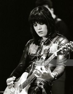 LOS ANGELES - EARLY 1980's: Guitarist and singer Joan Jett of the rock band 'Joan Jett and the Blackhearts' performs on stage in Los Angeles in the early 1980's. (Photo by Michael Ochs Archives