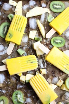 Anti-inflammatory Tropical Turmeric Popsicles - 5 super healthy functional ingredients create a delicious anti-inflammatory tropical turmeric popsicle. A healthy kid-friendly recipe. Vegan, Gluten-Free, Whole30| abraskitchen.com