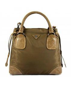 prada handbags beige - Prada toile en cuir Sac �� bandouli��re kaki 29248 http://www ...