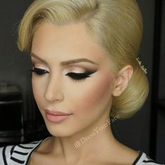 Pretty, elegant makeup and hair updo