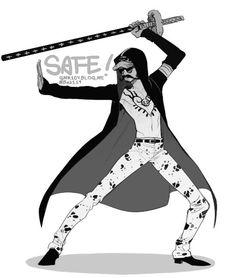 Mighty mustache sword fighter - Trafalgar D. Water Law One piece