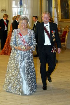 Princess Astrid and Johan Martin Ferner; wedding of Princess Märtha Louise of Norway and mr. Ari Behn on May 24, 2002 in Trondheim