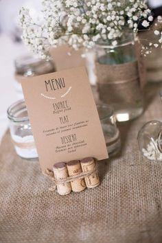 Une décoration champêtre et romantique aux accents vintage avec un tas de DIY de la décoration jusqu'aux faire-part: mariage DIY, champêtre et vintage