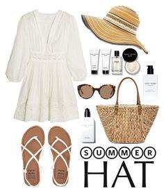 """Top It Off: Summer Hats"" by ratnadirax ❤ liked on Polyvore featuring Bobbi Brown Cosmetics, Glamorous, Zimmermann, Billabong, Straw Studios, Illesteva and summerhat"