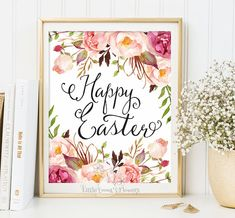 ♥Welcome to Little Emmas Flowers shop!♥ Happy Easter print  8x10 INSTANT DOWNLOAD Before placing your order, please take time to read the