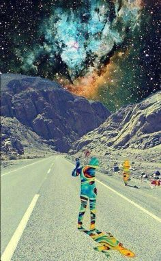 I love space and I love psychadelic things and I love this. Even the retro aspect of the quality of the picture exemplifies my aesthetic.