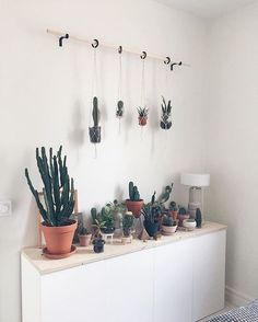 how cute are these cactus plants plant lady home inspiration house living space room scandinavian nordic inviting style comfy minimalist minimalism minimal simplistic si. My New Room, My Room, Dorm Room, Minimalism Living, Interior Design Minimalist, Modern Design, Decoration Plante, Room Goals, Plant Decor