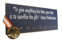 inspirational running quotes : Running Medals display Rack