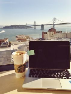 .One day this will be my dream office view. If only I didn't love my city so much I would move to the coast!