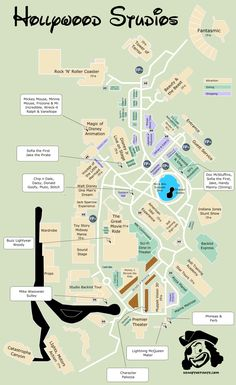 KennythePirate's Hollywood Studios Map  #disneyworldmap #hollywoodstudiosmap