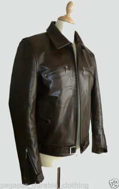 Sincere Eastman Raf 1940 British Ww2 Spitfire Pilot Irvin Horsehide Flight Jacket Sz 40 Great Britain