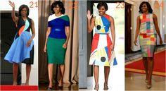 michelle obama geometria Michelle Obama, Shoulder Dress, One Shoulder, Dresses, Fashion, Vestidos, Moda, Fasion, Dress