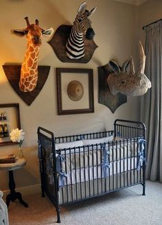 Mounted stuffed animals for a kids/child's room.  Great ideas for upcycling stuffed animals on this Board.
