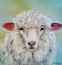 Sheep Painting by Kris Crestejo