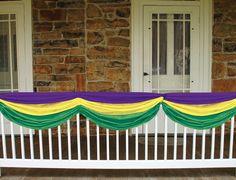 Mardi Gras Decorations Mardi Gras Fabric Bunting Image