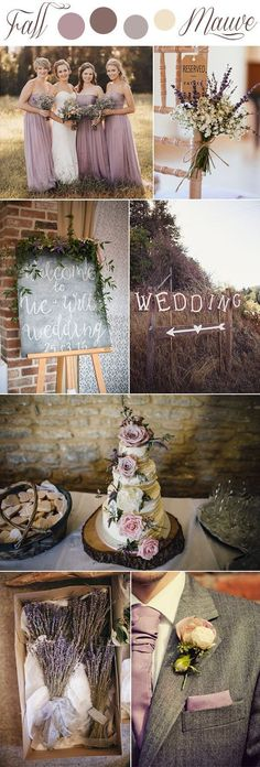 fall mauve and lavender romantic rustic wedding colors#weddingcolors#mauve