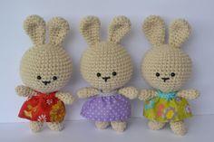 little bunny free ami pattern