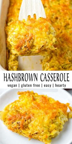 Hashbrown Casserole [vegan] – Contentedness Cooking This Hashbrown Casserole is creamy, cheesy, satisfying and no one would ever tell it is entirely vegan. Tastes better than the real deal and so easy to make. Try it and wow even the pickiest eaters. Vegan Dinner Recipes, Vegan Breakfast Recipes, Whole Food Recipes, Cooking Recipes, Healthy Recipes, Vegetarian Recipes For Kids, Easy Vegan Dinner, Vegetarian Diets, Best Vegan Recipes