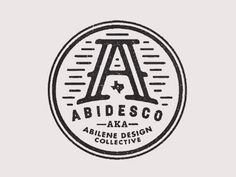 Creative Ryan, Feerer, Dribbble, -, and Abidesco image ideas & inspiration on Designspiration Typo Logo, Typographic Logo, Logo Branding, Branding Design, Vintage Typography, Typography Design, Lettering, Circle Logo Design, Badge Design