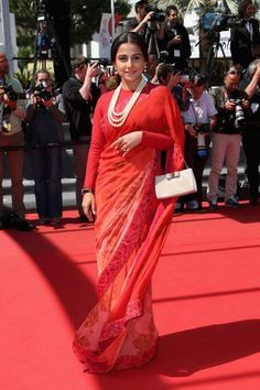 "Vidya Balan in a gorgeous ""Sabyasachi"" Saree at Cannes {2013}"