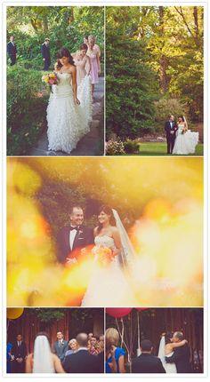 pretty garden wedding featured on 100 layer cake (photos by w scott chester).