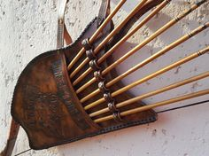 Bow and arrows page quiver real leather individual by 108Arrows