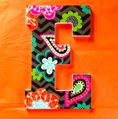 E in Vera Bradley's Ziggy Zinnia! www.kindasouthern.etsy.com