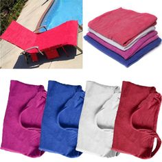 Microfiber Lounge Chair Beach Towel With Pockets Holidays Sunbathing Quick Drying Towels