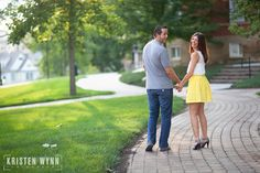 Leah and Andrew – Engagement Portraits at Washington and Jefferson College | Kristen Wynn Photography