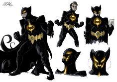 Batman Artwork, Batman Comic Art, Batman Comics, Cool Artwork, Dc Comics, Batman Redesign, Flash Characters, Batman Universe, Batman Family