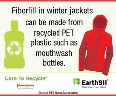 What's your winter coat made of? It might be a recycled mouthwash bottle!