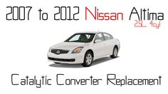 2007 to 2012 Nissan altima 2.5L catalytic converter replacement - Exhaust manifold DIY - http://autofixpal.com/2007-to-2012-nissan-altima-2-5l-catalytic-converter-replacement-exhaust-manifold-diy/ -